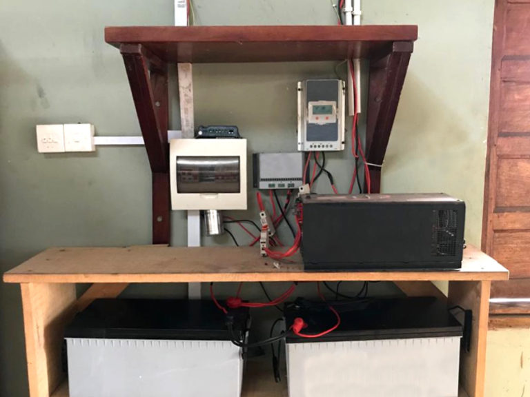 Trinity Yard School Solar Inverter and battery bank